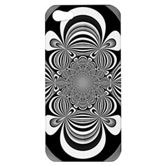 Black And White Ornamental Flower Apple Iphone 5 Hardshell Case by designworld65