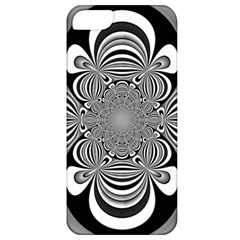 Black And White Ornamental Flower Apple Iphone 5 Classic Hardshell Case by designworld65