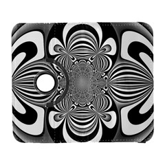 Black And White Ornamental Flower Samsung Galaxy S  Iii Flip 360 Case by designworld65