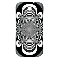 Black And White Ornamental Flower Samsung Galaxy S3 S Iii Classic Hardshell Back Case by designworld65