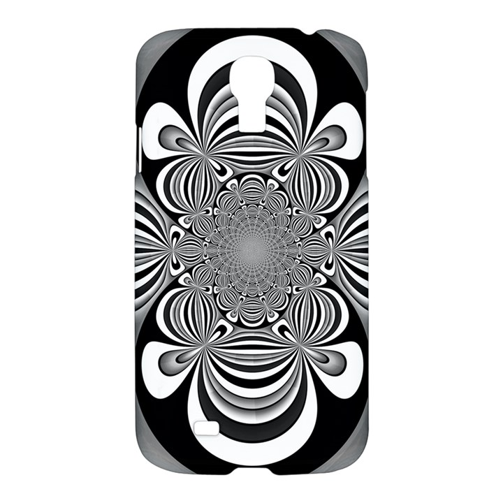 Black And White Ornamental Flower Samsung Galaxy S4 I9500/I9505 Hardshell Case