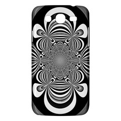 Black And White Ornamental Flower Samsung Galaxy Mega 5 8 I9152 Hardshell Case  by designworld65