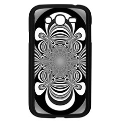Black And White Ornamental Flower Samsung Galaxy Grand Duos I9082 Case (black)