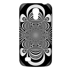 Black And White Ornamental Flower Galaxy S4 Mini by designworld65