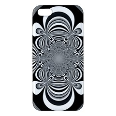 Black And White Ornamental Flower Iphone 5s/ Se Premium Hardshell Case by designworld65
