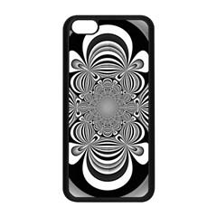 Black And White Ornamental Flower Apple Iphone 5c Seamless Case (black) by designworld65