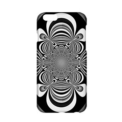 Black And White Ornamental Flower Apple Iphone 6/6s Hardshell Case by designworld65