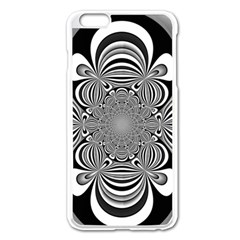 Black And White Ornamental Flower Apple Iphone 6 Plus/6s Plus Enamel White Case by designworld65