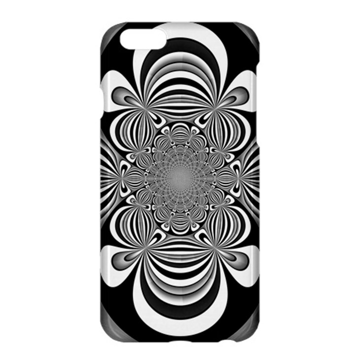 Black And White Ornamental Flower Apple iPhone 6 Plus/6S Plus Hardshell Case