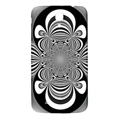 Black And White Ornamental Flower Samsung Galaxy Mega I9200 Hardshell Back Case by designworld65
