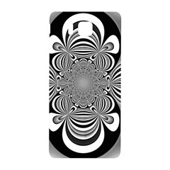 Black And White Ornamental Flower Samsung Galaxy Alpha Hardshell Back Case by designworld65