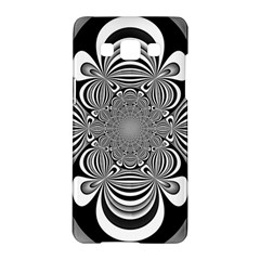 Black And White Ornamental Flower Samsung Galaxy A5 Hardshell Case  by designworld65