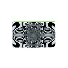 Black And White Ornamental Flower Cosmetic Bag (xs) by designworld65