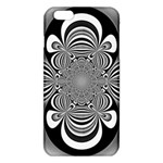 Black And White Ornamental Flower iPhone 6 Plus/6S Plus TPU Case Front