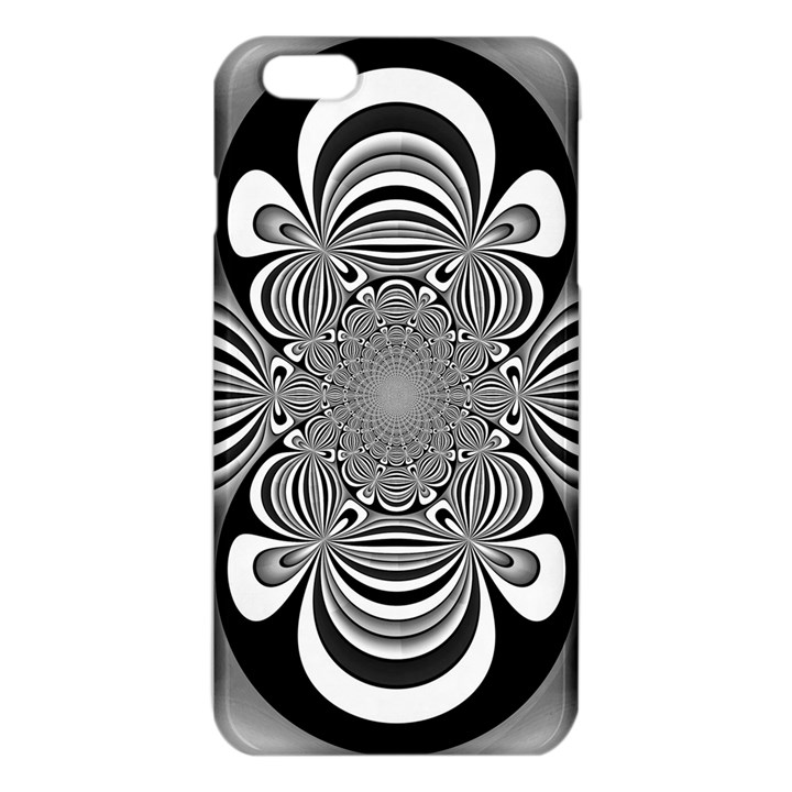 Black And White Ornamental Flower iPhone 6 Plus/6S Plus TPU Case