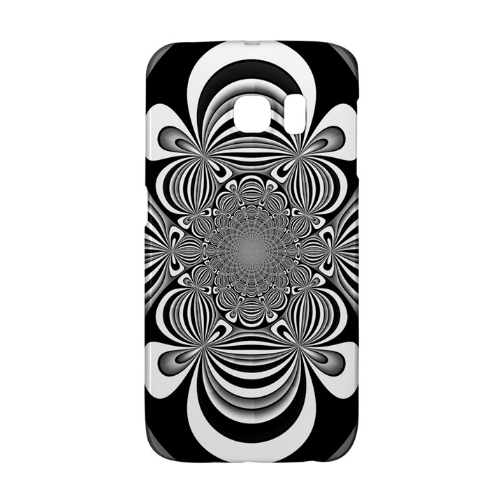 Black And White Ornamental Flower Galaxy S6 Edge
