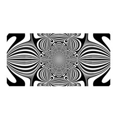 Black And White Ornamental Flower Satin Wrap by designworld65