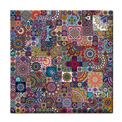Ornamental Mosaic Background Tile Coasters