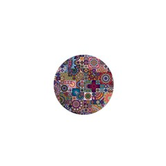 Ornamental Mosaic Background 1  Mini Buttons by TastefulDesigns