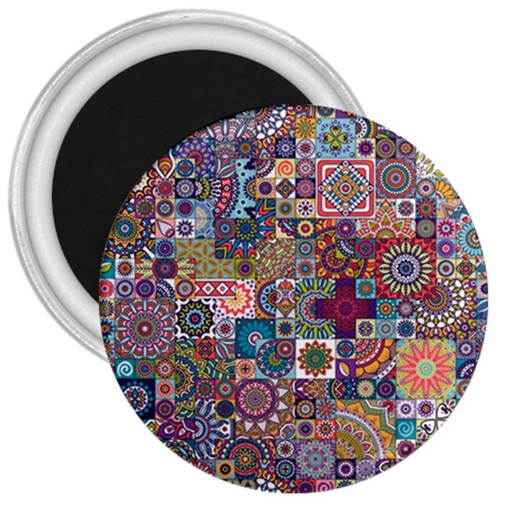 Ornamental Mosaic Background 3  Magnets