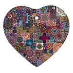 Ornamental Mosaic Background Ornament (Heart)