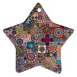 Ornamental Mosaic Background Ornament (Star)  Front