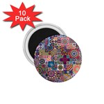 Ornamental Mosaic Background 1.75  Magnets (10 pack)