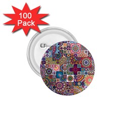 Ornamental Mosaic Background 1 75  Buttons (100 Pack)