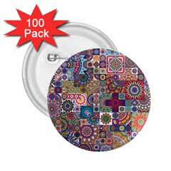 Ornamental Mosaic Background 2 25  Buttons (100 Pack)