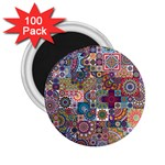 Ornamental Mosaic Background 2.25  Magnets (100 pack)  Front