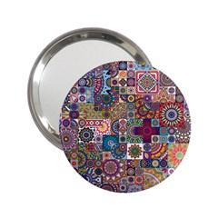 Ornamental Mosaic Background 2 25  Handbag Mirrors by TastefulDesigns