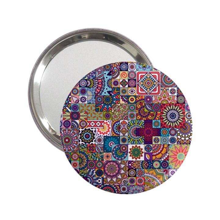 Ornamental Mosaic Background 2.25  Handbag Mirrors