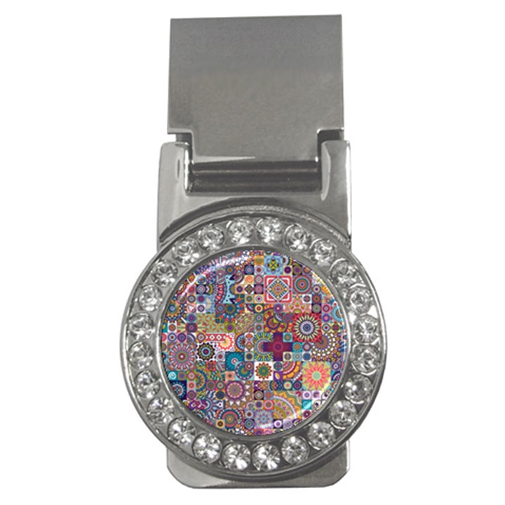 Ornamental Mosaic Background Money Clips (CZ)