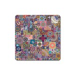 Ornamental Mosaic Background Square Magnet Front