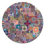 Ornamental Mosaic Background Magnet 5  (Round)