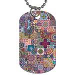 Ornamental Mosaic Background Dog Tag (One Side)