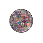 Ornamental Mosaic Background Hat Clip Ball Marker