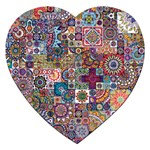 Ornamental Mosaic Background Jigsaw Puzzle (Heart)