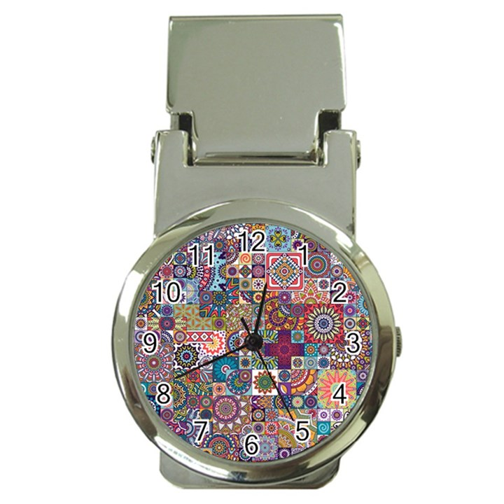 Ornamental Mosaic Background Money Clip Watches