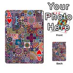 Ornamental Mosaic Background Playing Cards 54 Designs  Front - HeartA