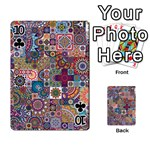 Ornamental Mosaic Background Playing Cards 54 Designs  Front - Club10