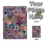 Ornamental Mosaic Background Playing Cards 54 Designs  Front - Spade8