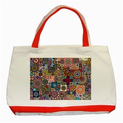 Ornamental Mosaic Background Classic Tote Bag (Red)