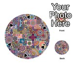 Ornamental Mosaic Background Playing Cards 54 (Round)