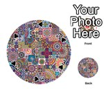 Ornamental Mosaic Background Playing Cards 54 (Round)  Front - Spade3