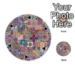 Ornamental Mosaic Background Playing Cards 54 (Round)  Front - SpadeQ