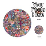 Ornamental Mosaic Background Playing Cards 54 (Round)  Front - Diamond8