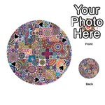 Ornamental Mosaic Background Playing Cards 54 (Round)  Front - Spade7