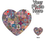 Ornamental Mosaic Background Playing Cards 54 (Heart)  Front - Heart6