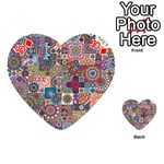 Ornamental Mosaic Background Playing Cards 54 (Heart)  Front - Diamond10